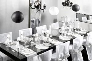 Décoration mariage noir et blanc