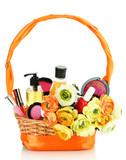 Panier cadeau avec produits de beauté