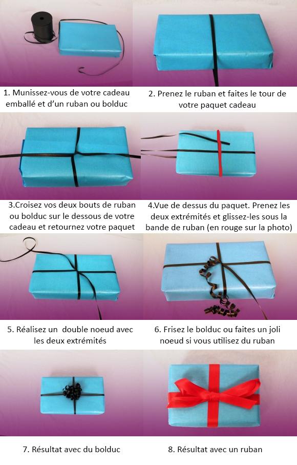 Découvrez comment réaliser un noeud décoratif pour votre emballage cadeau.