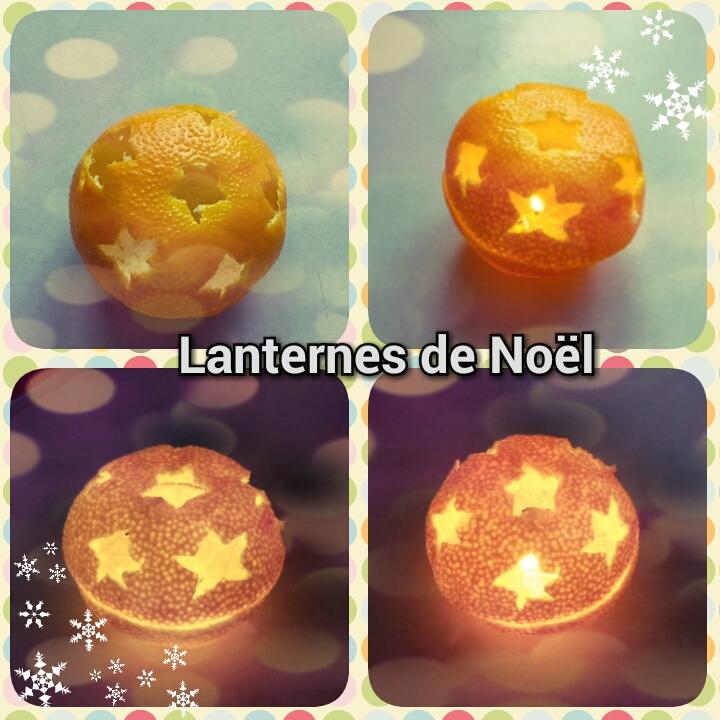 Lanterne de Noël avec des clémentines