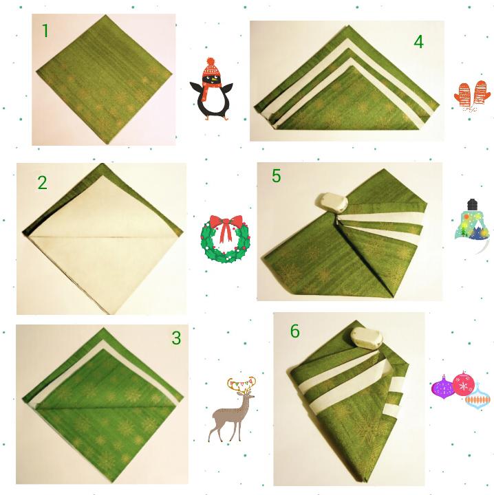 Sapin-serviette-étapes-1