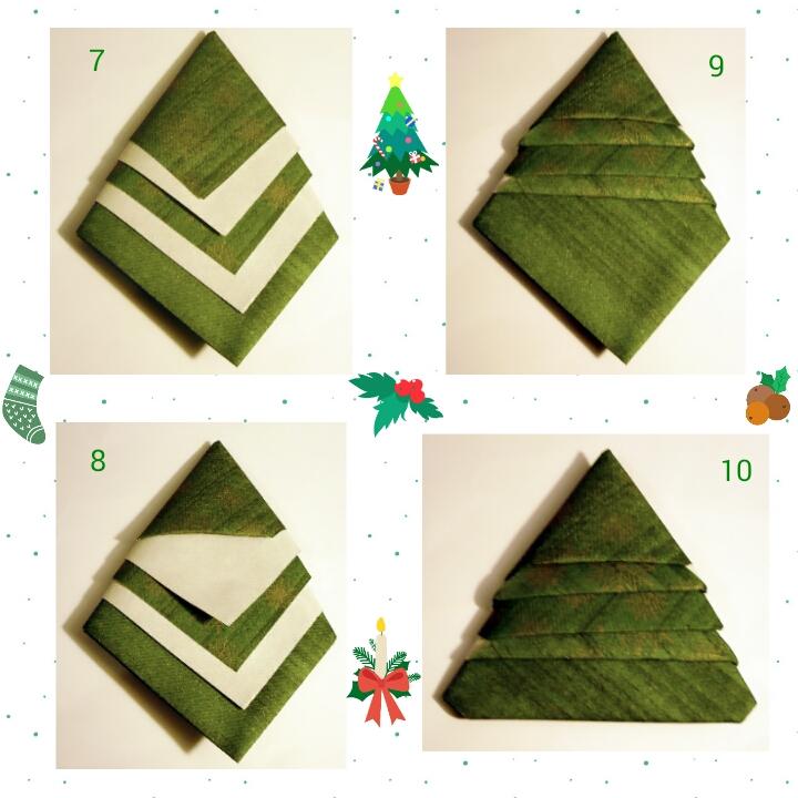 Sapin-serviette-étapes-2