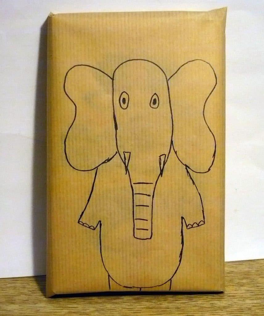 Emballages cadeaux animaux l 39 l phant emballage cadeau - Emballage cadeau saint valentin ...