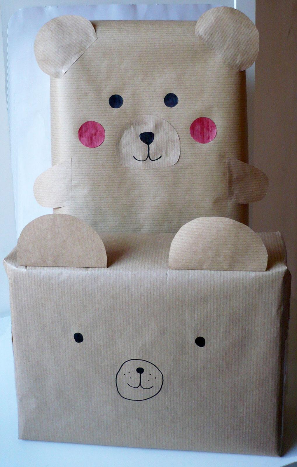 Emballages cadeaux animaux l ours emballage cadeau - Emballage cadeau saint valentin ...