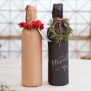 emballage cadeau bouteille
