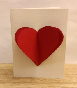 carte de saint valentin avec un coeur en 3D
