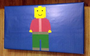 paquet cadeau personnage lego